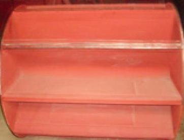 Worn steel fan blades