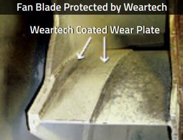 Steel fan blades with Weartech Coating