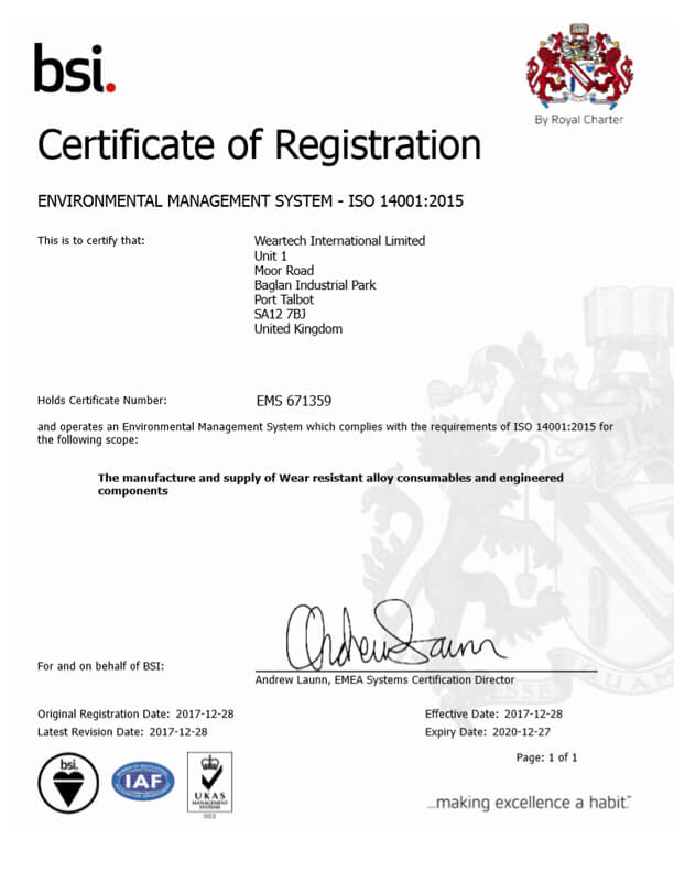 EMS ISO 14001 Certification