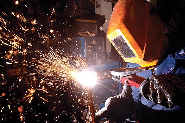 Guy welding